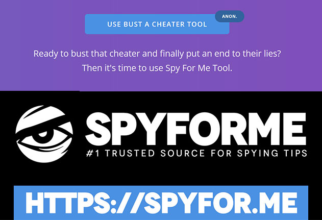 Expose cheater with Spyfor.Me Bust a Cheater Tool
