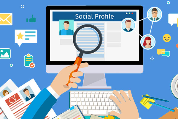 Searching for persons identity on social media