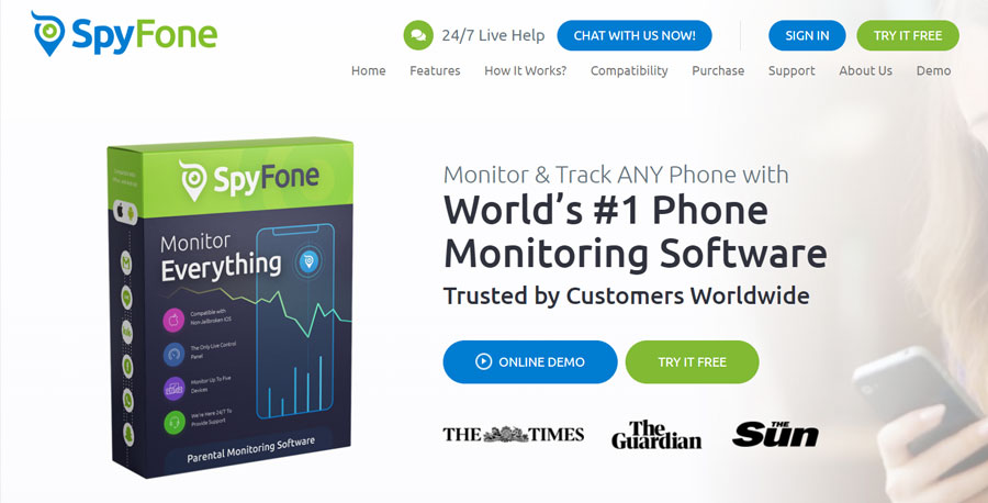 SpyFone World's #1 Phone Monitoring App to Monitor & Track ANY Phone
